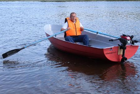 Стеклопластиковая лодка «Альтан 42»