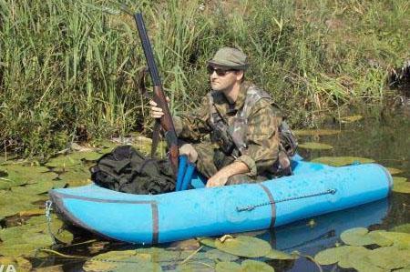 Надувная резиновая лодка «Охотник 1»
