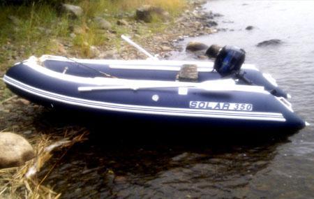 Надувная лодка «Солар 350» с НДНД