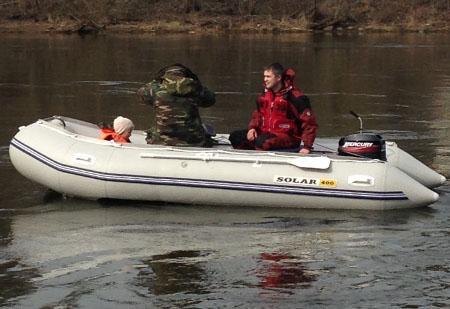 Надувная ПВХ лодка с НДНД «Солар 400»