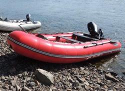 Надувная ПВХ лодка «Абакан 380» с НДНД и фанерным пайолом