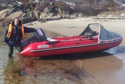 Надувная ПВХ лодка с НДНД «КомпАс 420»