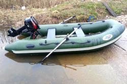 Надувная ПВХ лодка «Лидер 330»